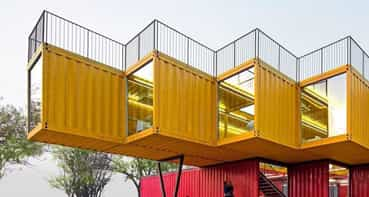 Container Stack Pavilion / People's Architecture Office