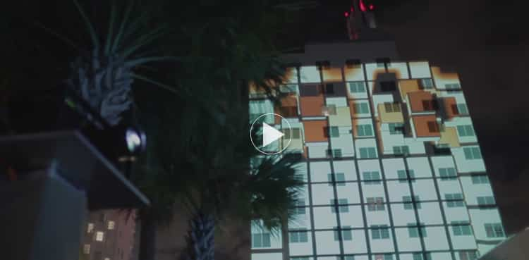 SLS Hotel 3D Projection Mapping / Dawn of Man