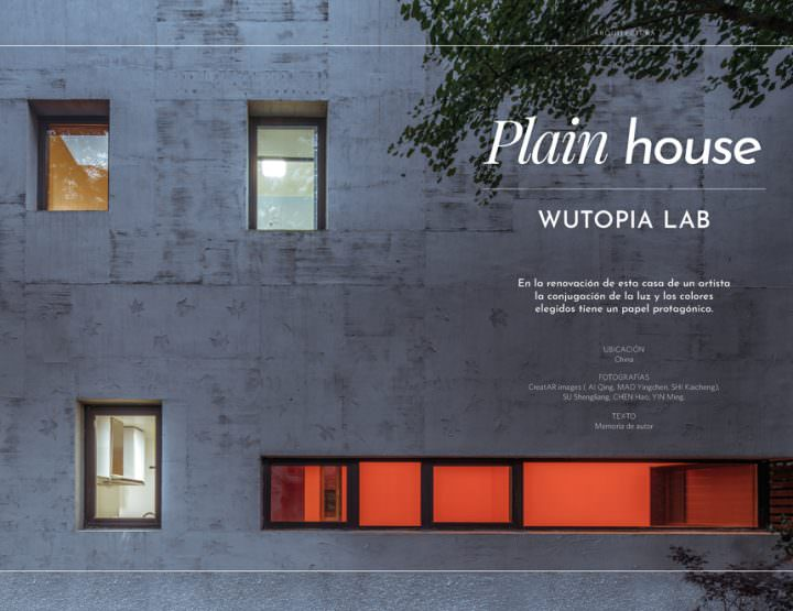 Plain House / Wutopia Lab