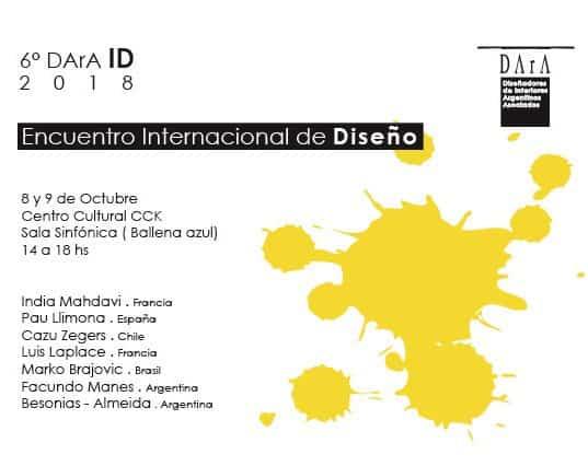 DArA ID 2018: 6º Edición del Encuentro Internacional de Diseño